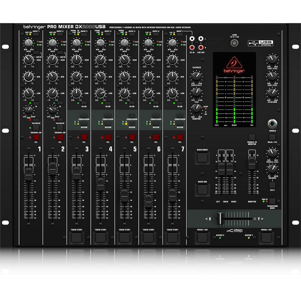 Behringer DX2000USB Mixer de 7 canais Behringer DX-2000 USB
