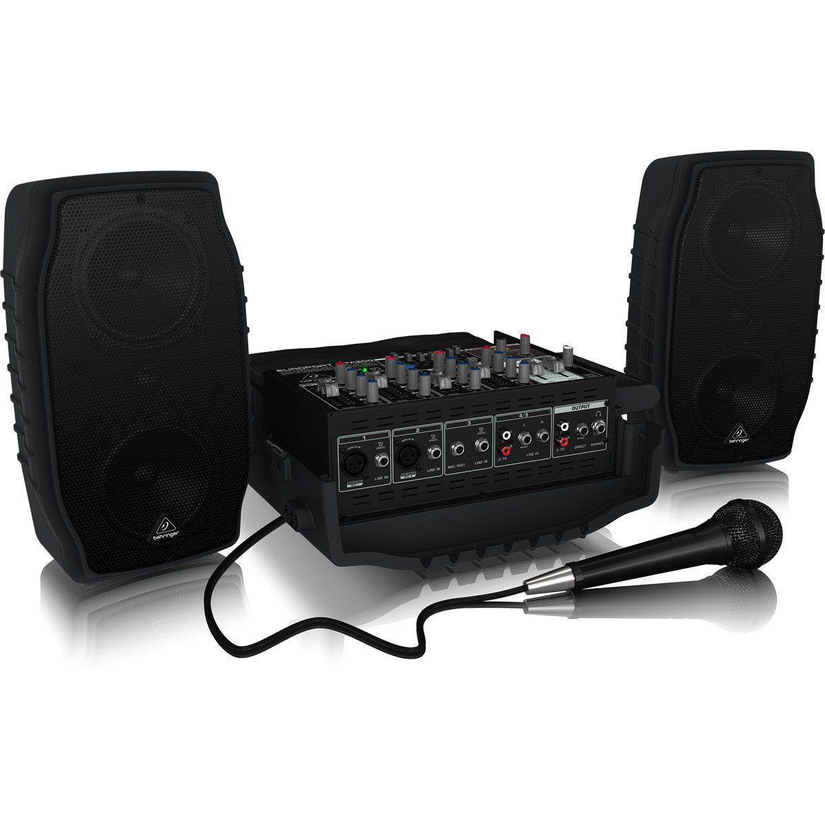 Behringer EuroPort PPA200 Caixa de Som Acústica BehringerPPA200 com Mixer e Microfone