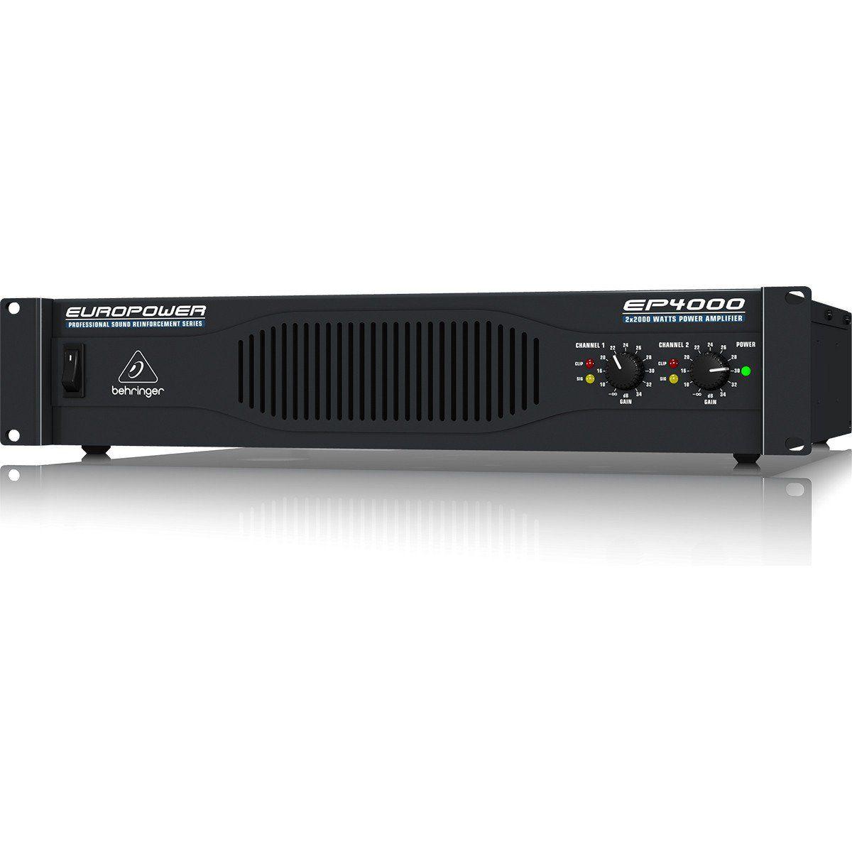 Behringer EuroPower EP4000 Amplificador EuroPower EP4000 Estéreo 110V