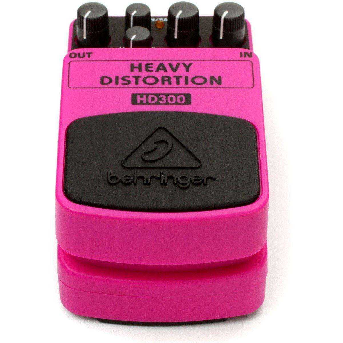 Behringer HD300 Heavy Distortion Pedal para Guitarra para Distorção Densa