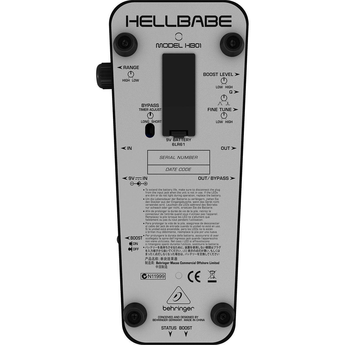 Behringer HB01 HellBabe Pedal para Guitarra Profissional para Clássicos e Modernos
