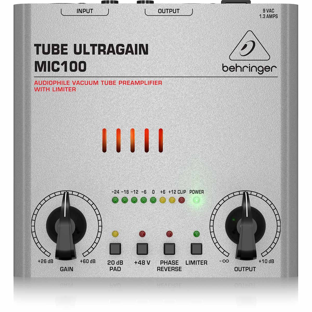 Behringer MIC100 Tube UltraGain Pré Amplificador MIC100 Tube UltraGain 110V