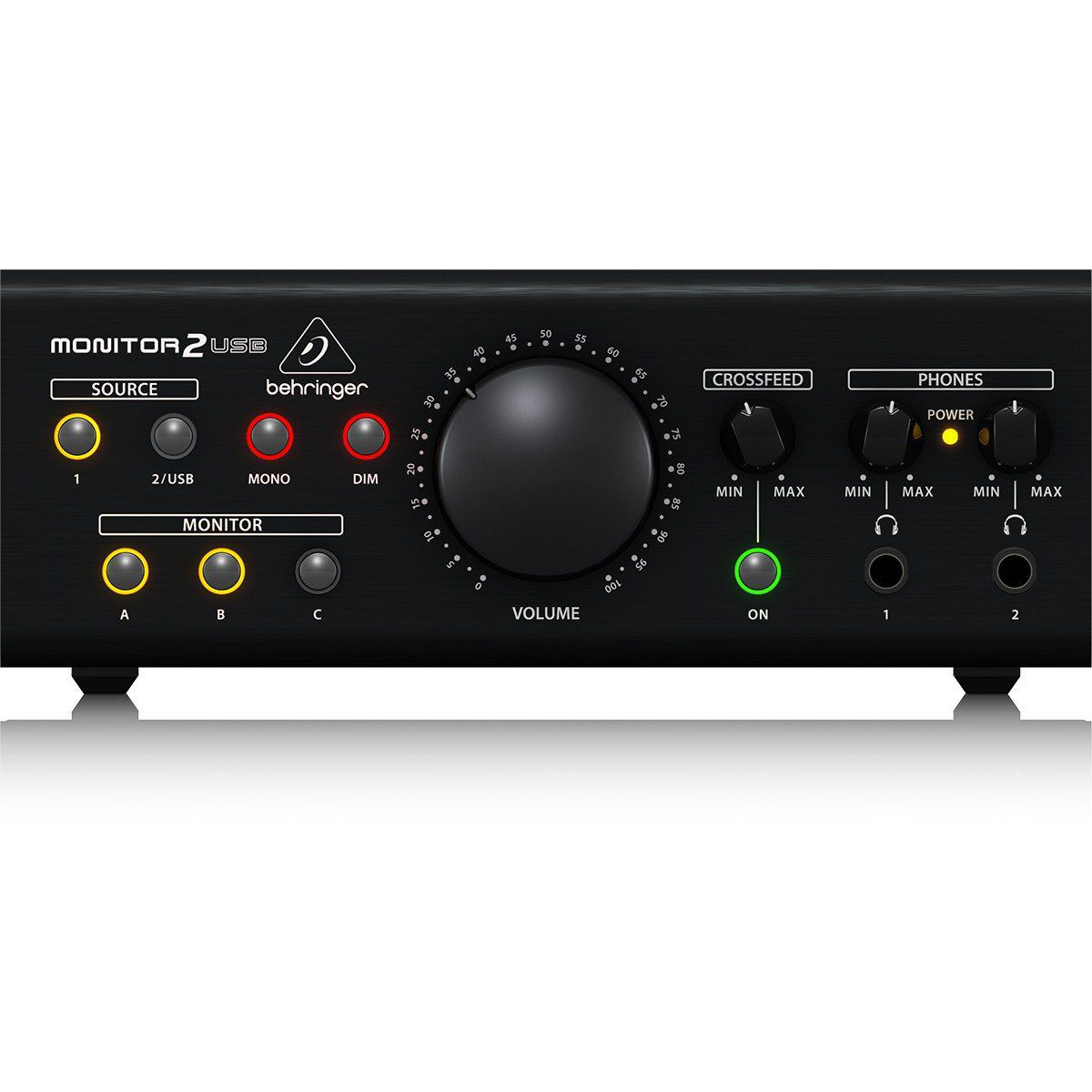 Behringer Monitor2Usb Interface de Áudio Monitor 2 Usb Monitoramento até 3 Pares XLR
