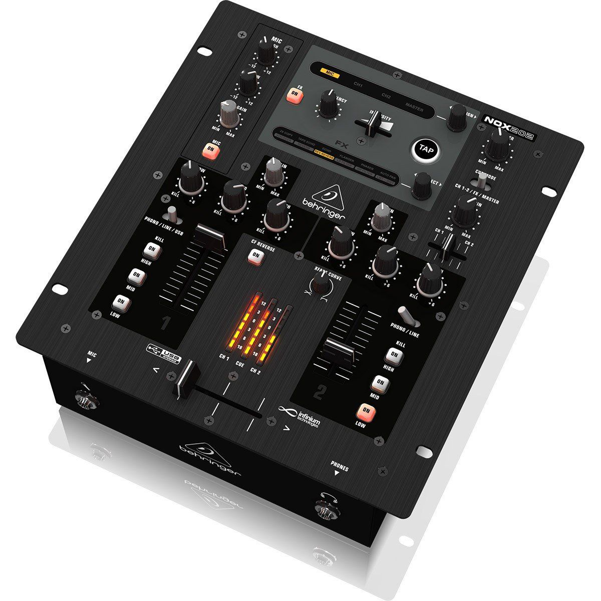 Behringer NOX202 Mixer Behringer NOX202 de 2 Canais