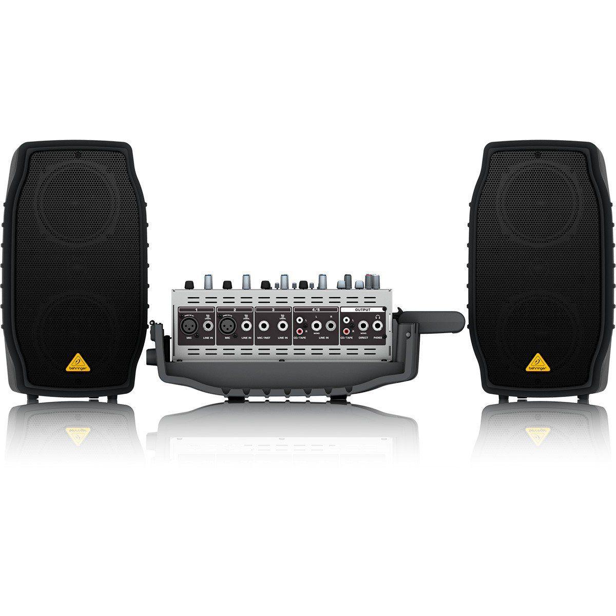Behringer EuroPort EPA150 Caixa de Som EPA150 Kit de Pa 150w com Mixer e Microfone