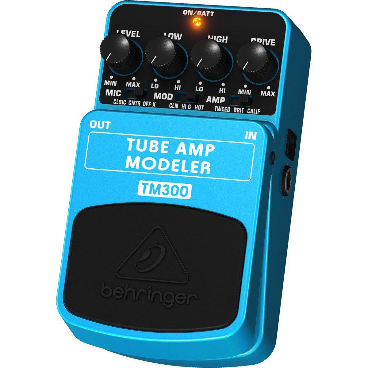 Behringer TM300 Tube Amp Modeler Pedal para Guitarras Elétricas Shows