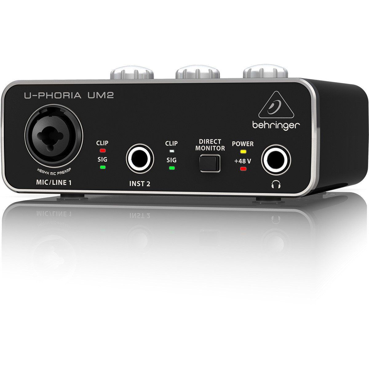 Behringer U-Phoria UM2 Interface de Áudio UM2 2x2 Xenyx Mac e PC Usb