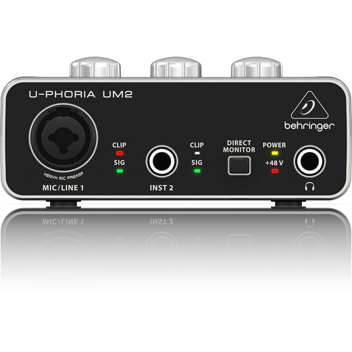Behringer U-Phoria UM2 Interface de Áudio UM-2 2x2 Xenyx Mac e PC Usb