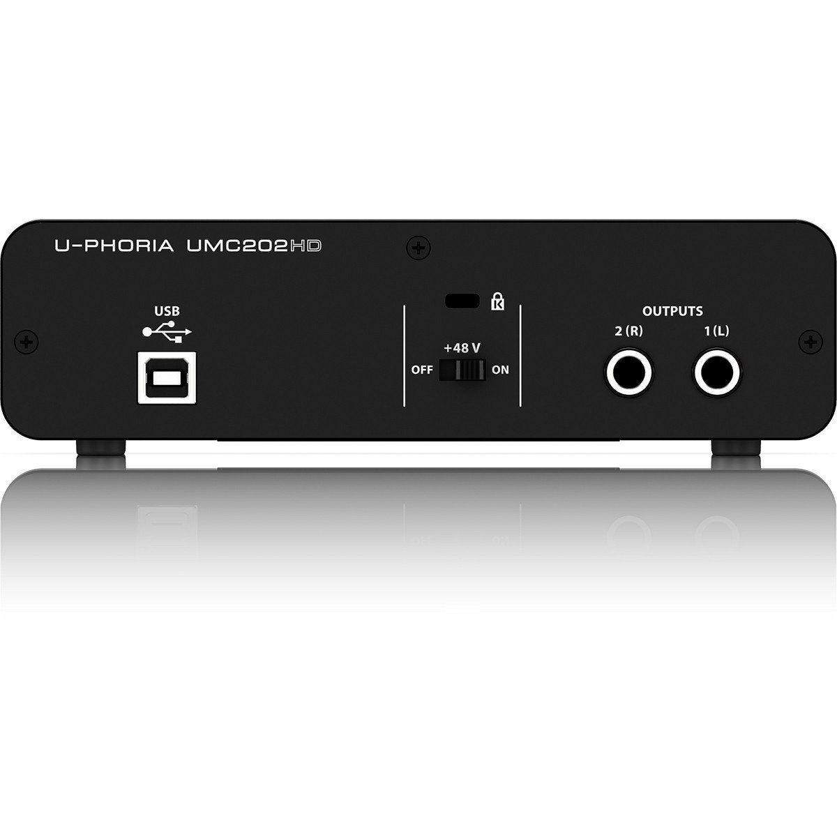 Behringer U-Phoria UMC202HD Interface de Áudio UMC-202HD 2x2 Midas 24-Bit 192-Khz Usb