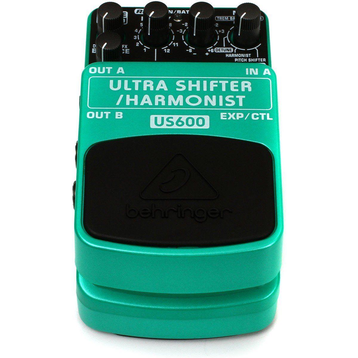 Behringer US600 Ultra Shifter Harmonist Pedal para Guitarra Performances Home Studio