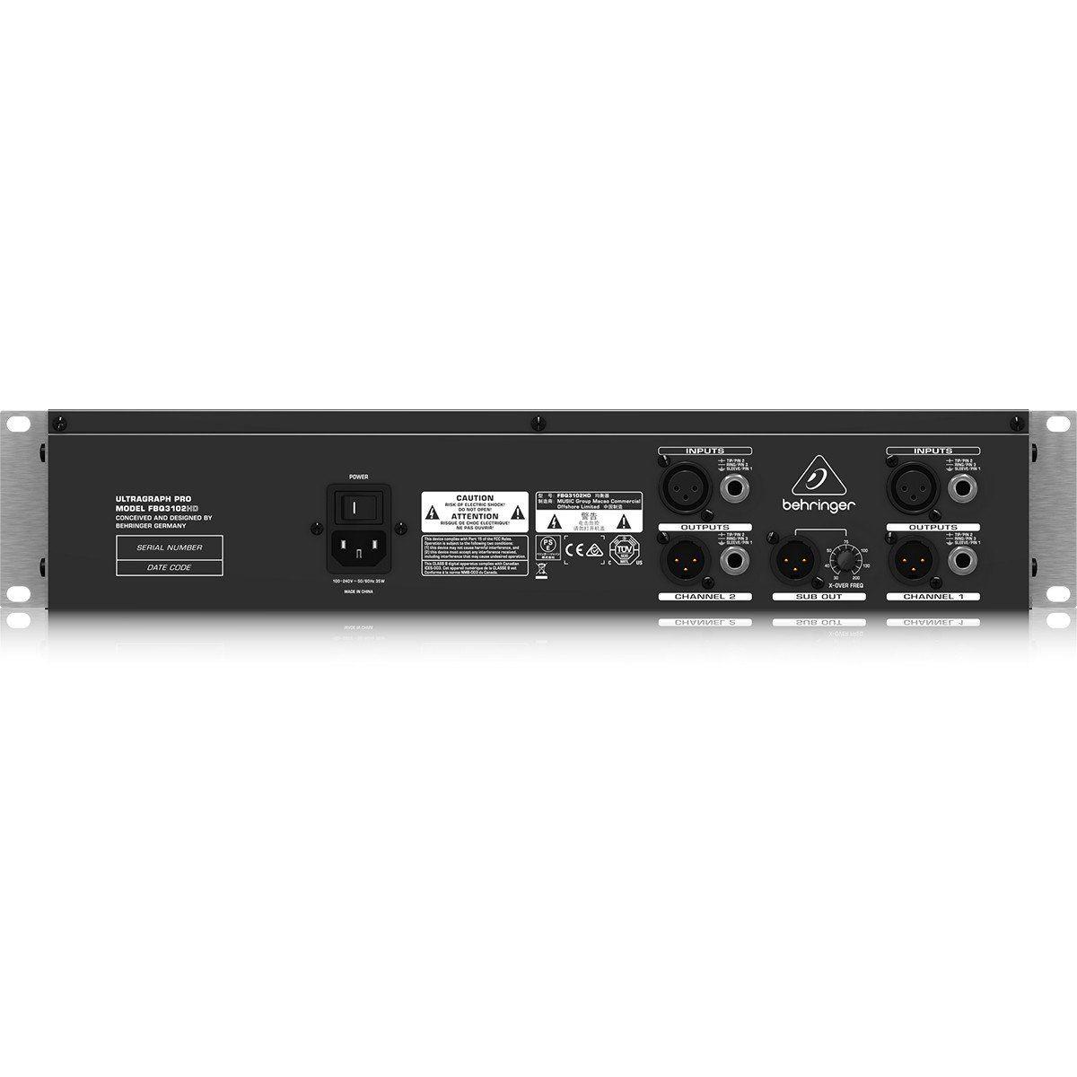 Behringer FBQ3102HD UltraGraph Equalizador Behringer FBQ3102HD Ultra-Graph