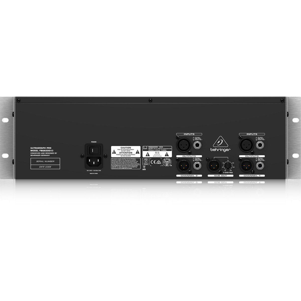 Behringer FBQ6200HD UltraGraph Equalizador Digital para Ao Vivo e Estúdio