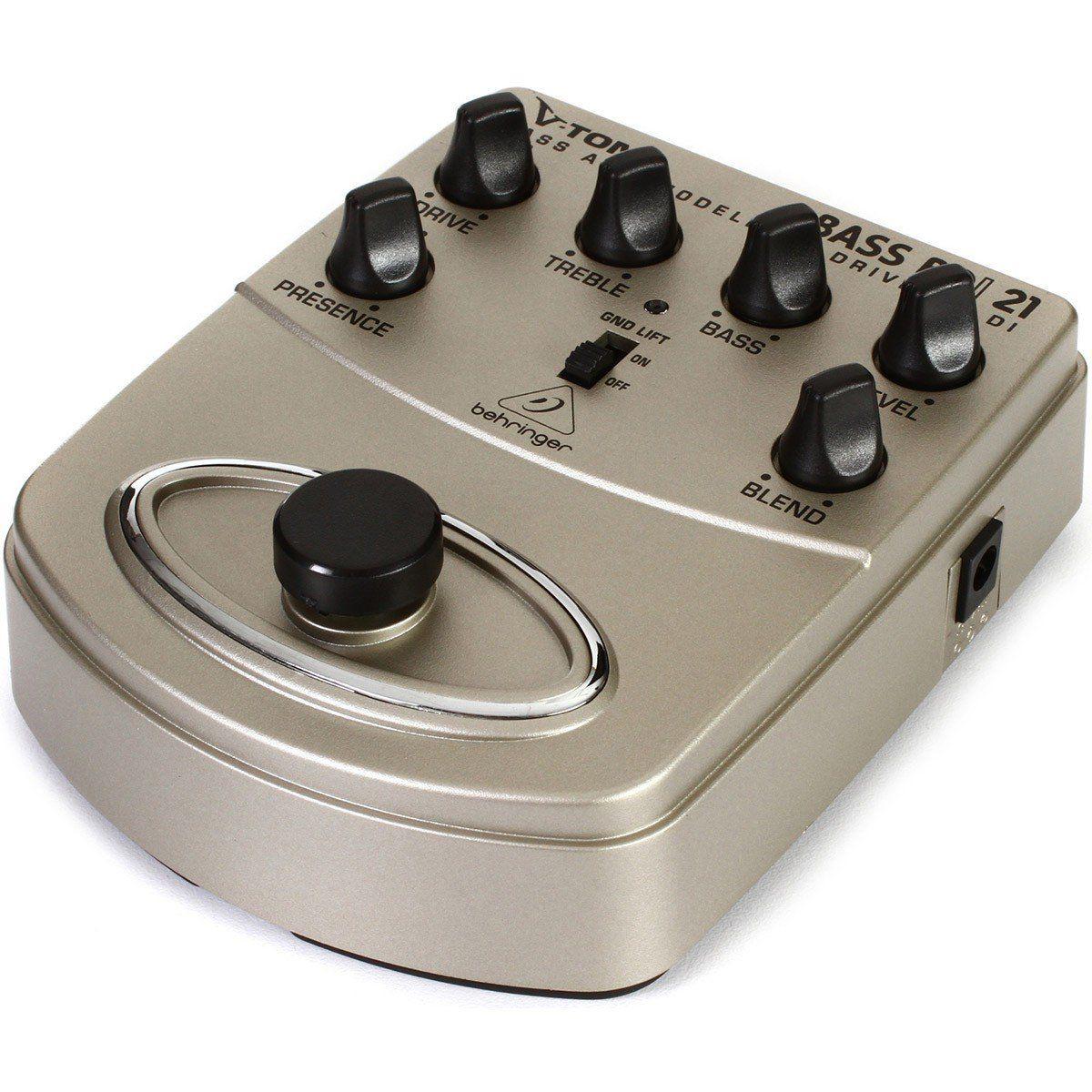 Behringer BDI21 V-Tone Bass Pedal para Baixo e Contrabaixo