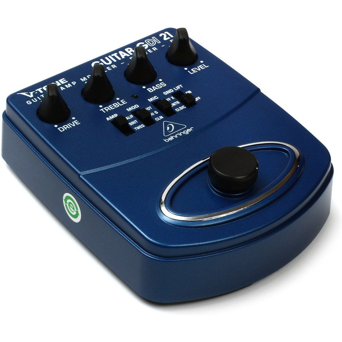 Behringer GDI21 V-Tone Guitar Pedal para Guitarra com 3 Amplificadores