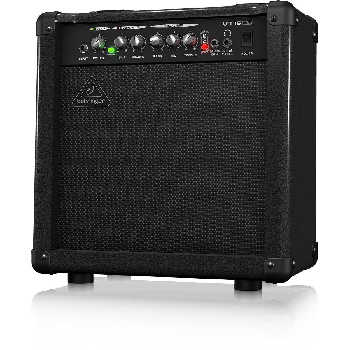 Behringer Virtube VT15Cd Amplificador para Guitarra Iniciante e Home Studio
