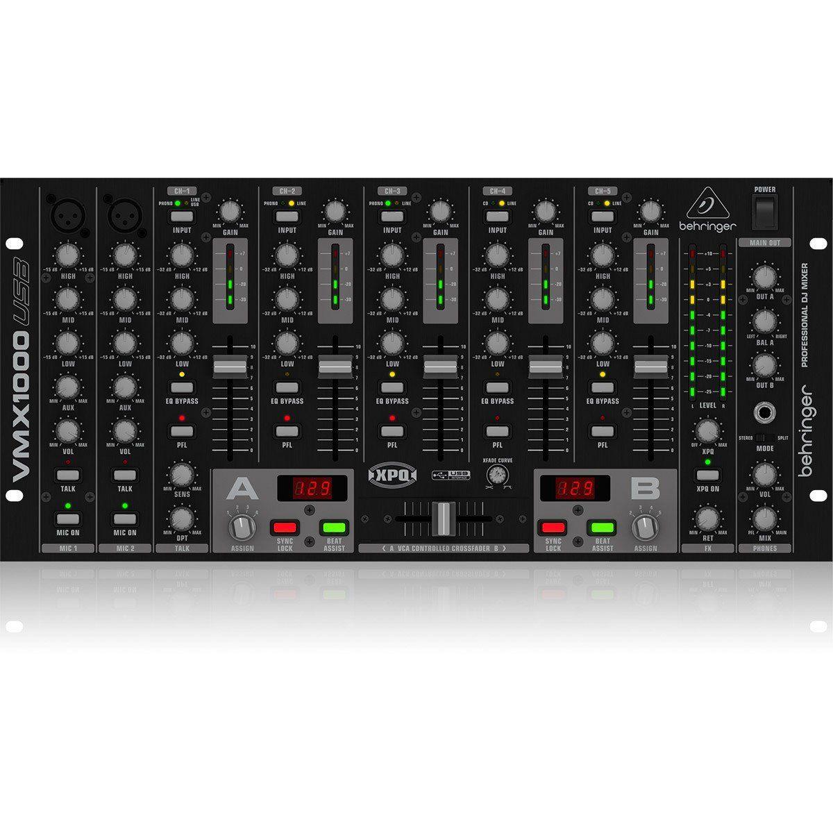 Behringer VMX1000 Mixer Behringer VMX1000 USB com 7 Canais