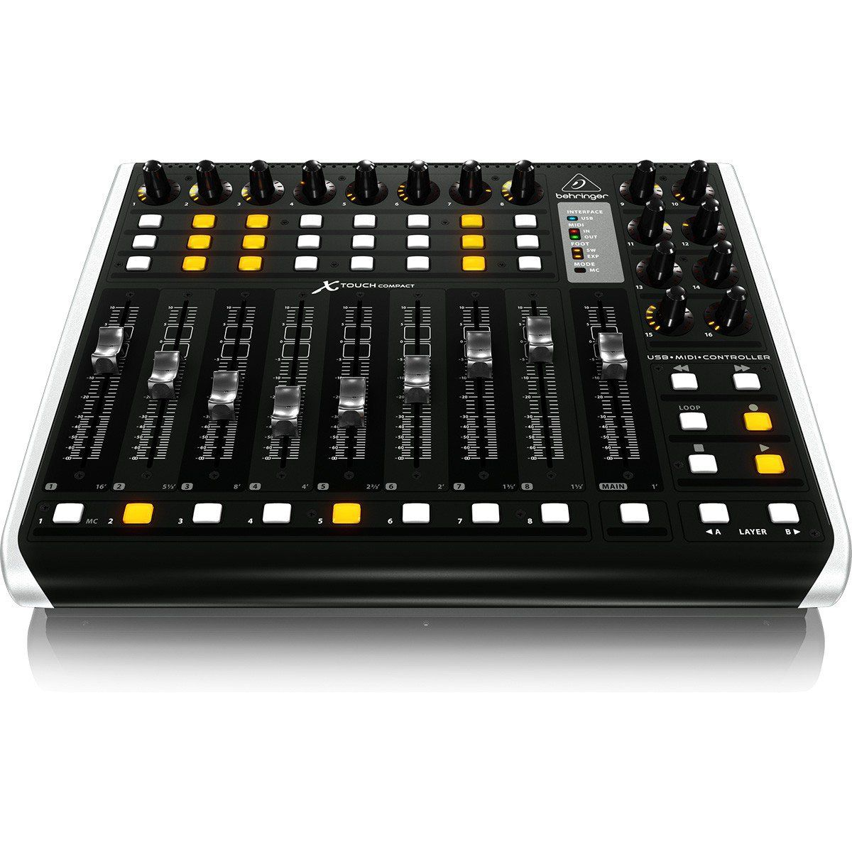 Behringer X-Touch Compact Controladora 16-Canais Produção Musical