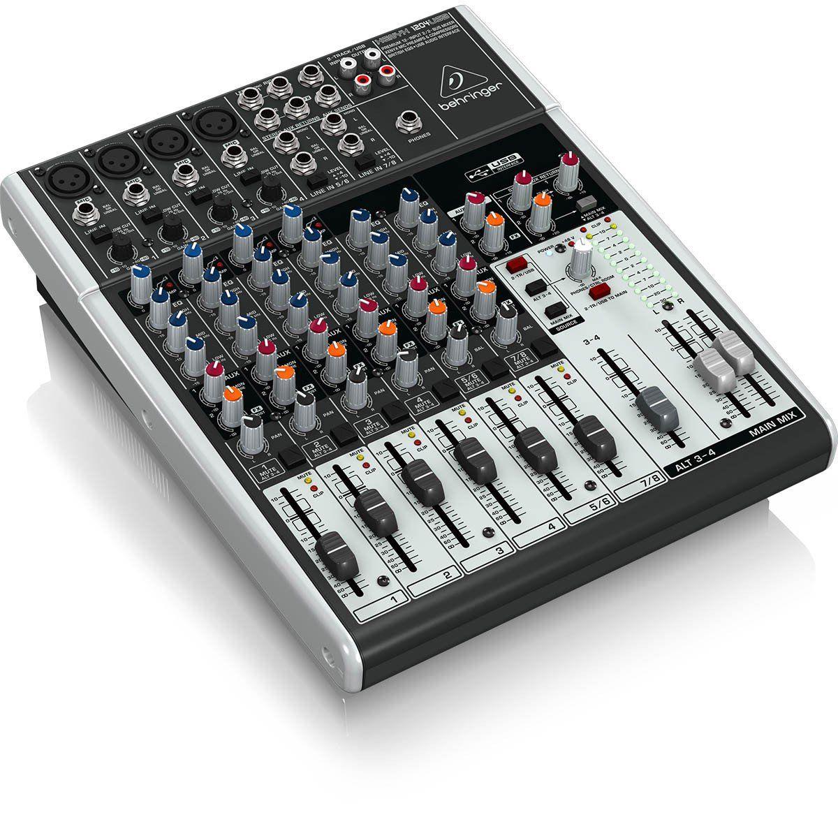 Behringer Xenyx 1204Usb Mesa de Som 1204-Usb 12 Canais para Gravação e Home Studio