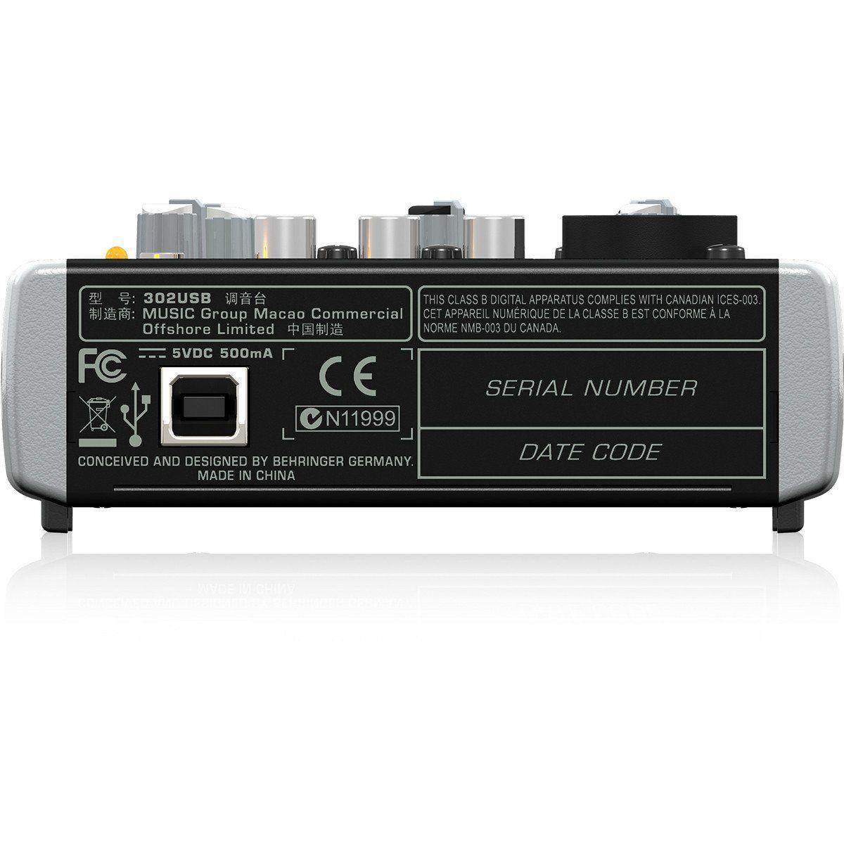 Behringer Xenyx 302Usb Mesa de Som 302-Usb 3 Canais para Gravação Eventos Performance
