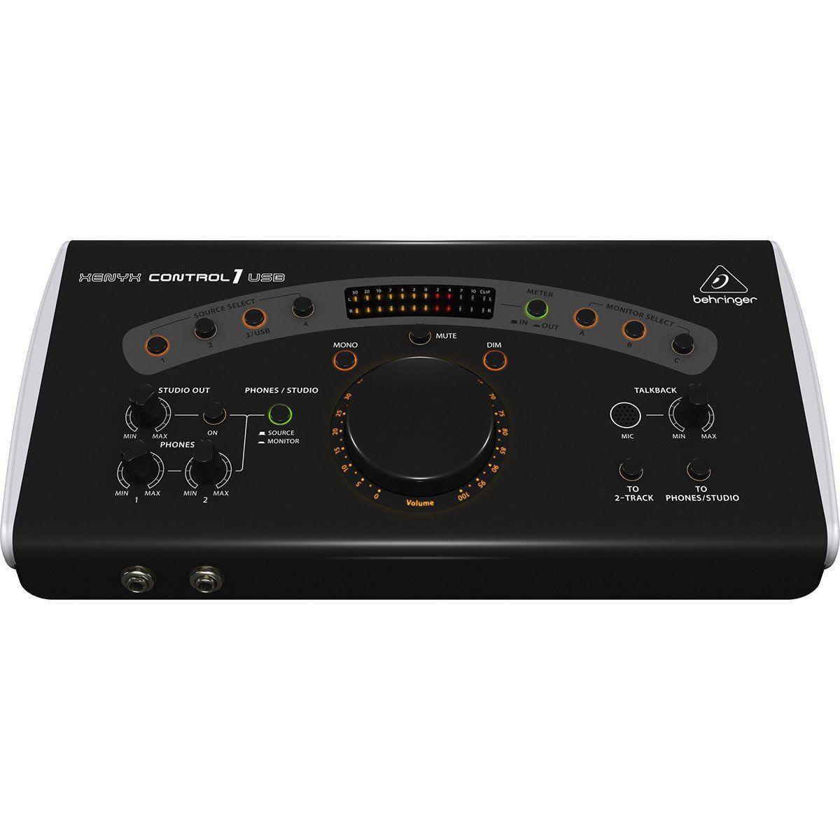 Behringer Xenyx Control1Usb Interface de Áudio Control 1Usb 4x3 Saídas para Monitores