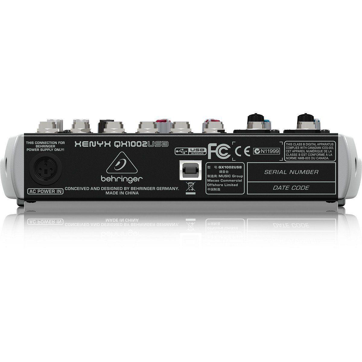 Behringer Xenyx Qx1002Usb Mesa de Som QX-1002-Usb 10 Canais para Performance Gravação