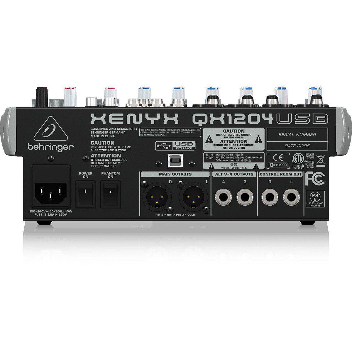 Behringer Xenyx Qx1204Usb Mesa de Som QX-1204-Usb com 12 Canais