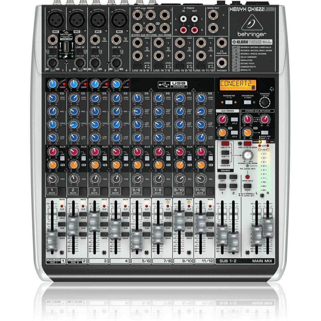 Behringer Xenyx Qx1622Usb Mesa de Som QX-1622-Usb 16 Canais para Estúdio Performances