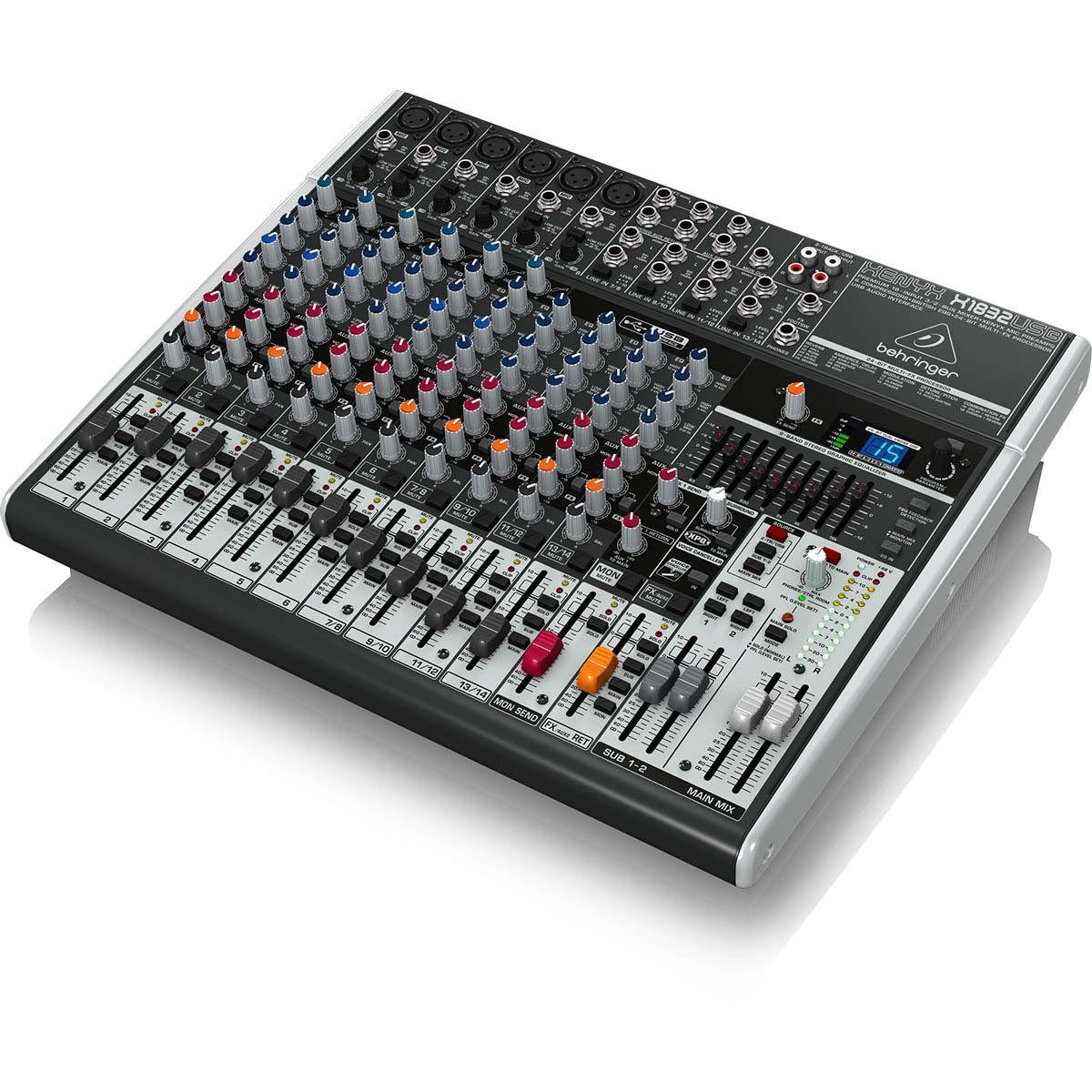 Behringer Xenyx X1832Usb Mesa de Som X-1832-Usb 18 Canais para Eventos e Home Studio