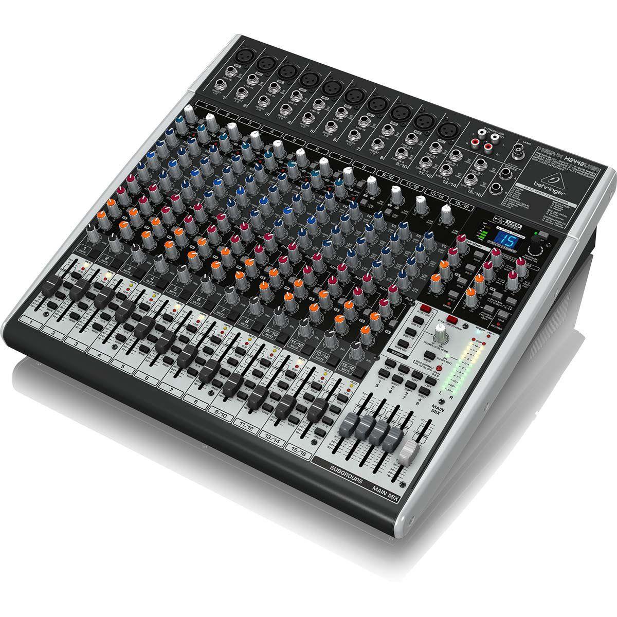 Behringer Xenyx X2442Usb Mesa de Som X-2442-Usb 24 Canais Performances e Gravações