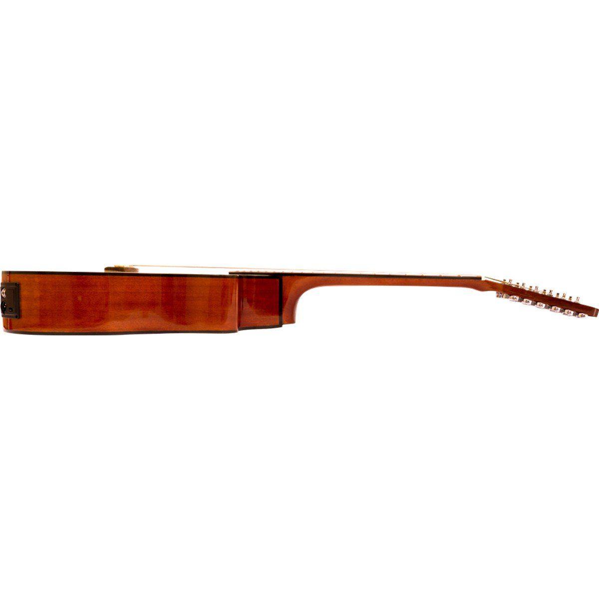 Benson Catalina BVE-EFM-12ST-NT Violão Eletro Acústico Jumbo de 12 cordas
