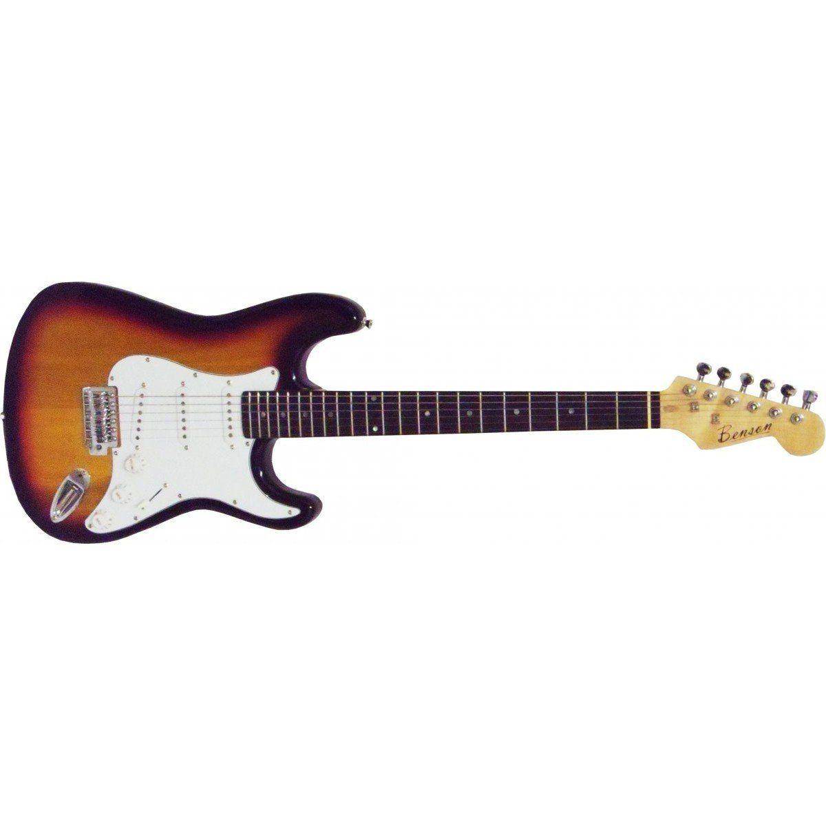 Benson Strato BGS-ETL10S-W Guitarra com 3 Captadores Single