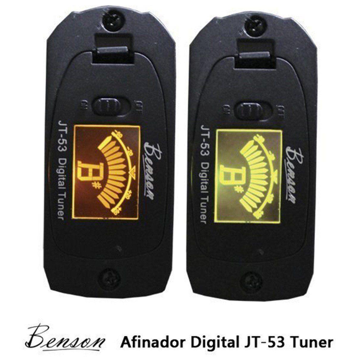 Benson Strato All-Black-Tuner Guitarra para Iniciantes e Intermediários