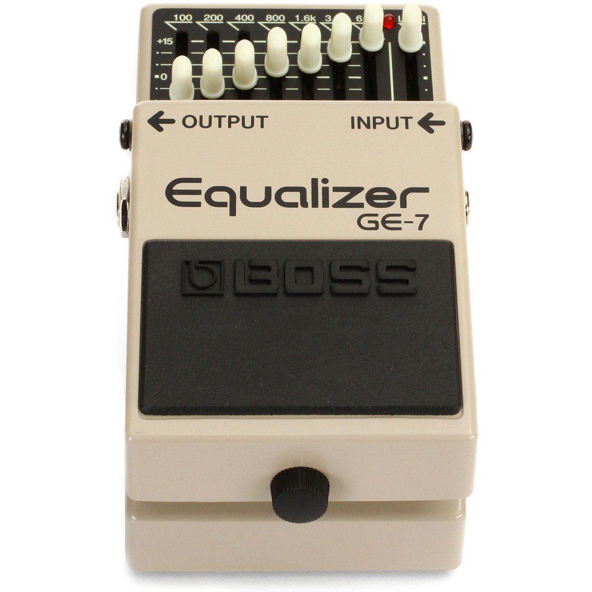 Boss Equalizer GE-7 Pedal para Guitarra Equalizador de 7 Bandas para Bandas e Shows