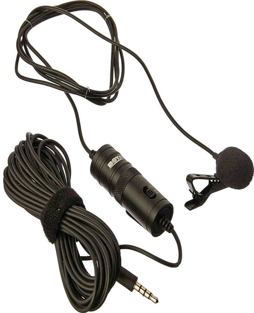 Boya BY-M1 Microfone de lapela Omni-directional