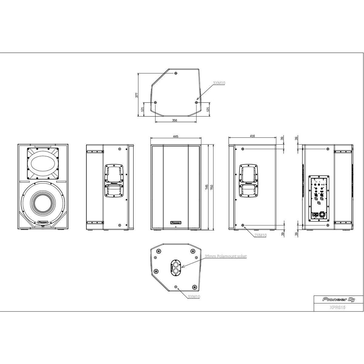 Pioneer XPRS 15 Caixa de Som XPRS15 Ativa 1200W RMS 15 polegadas