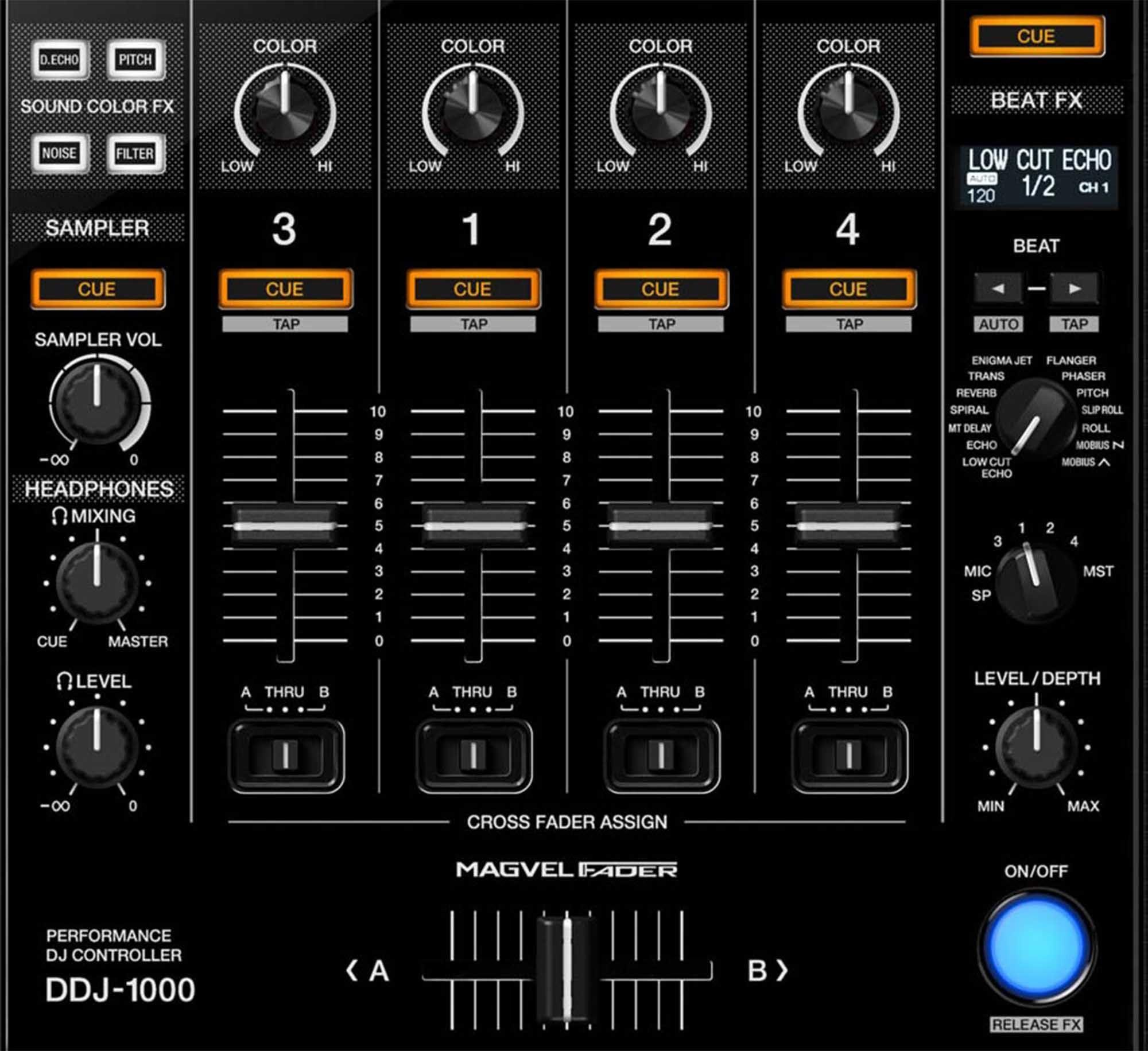 DDJ-1000 Pioneer Controladora DDJ 1000 4-Canais 4-Decks Rekordbox