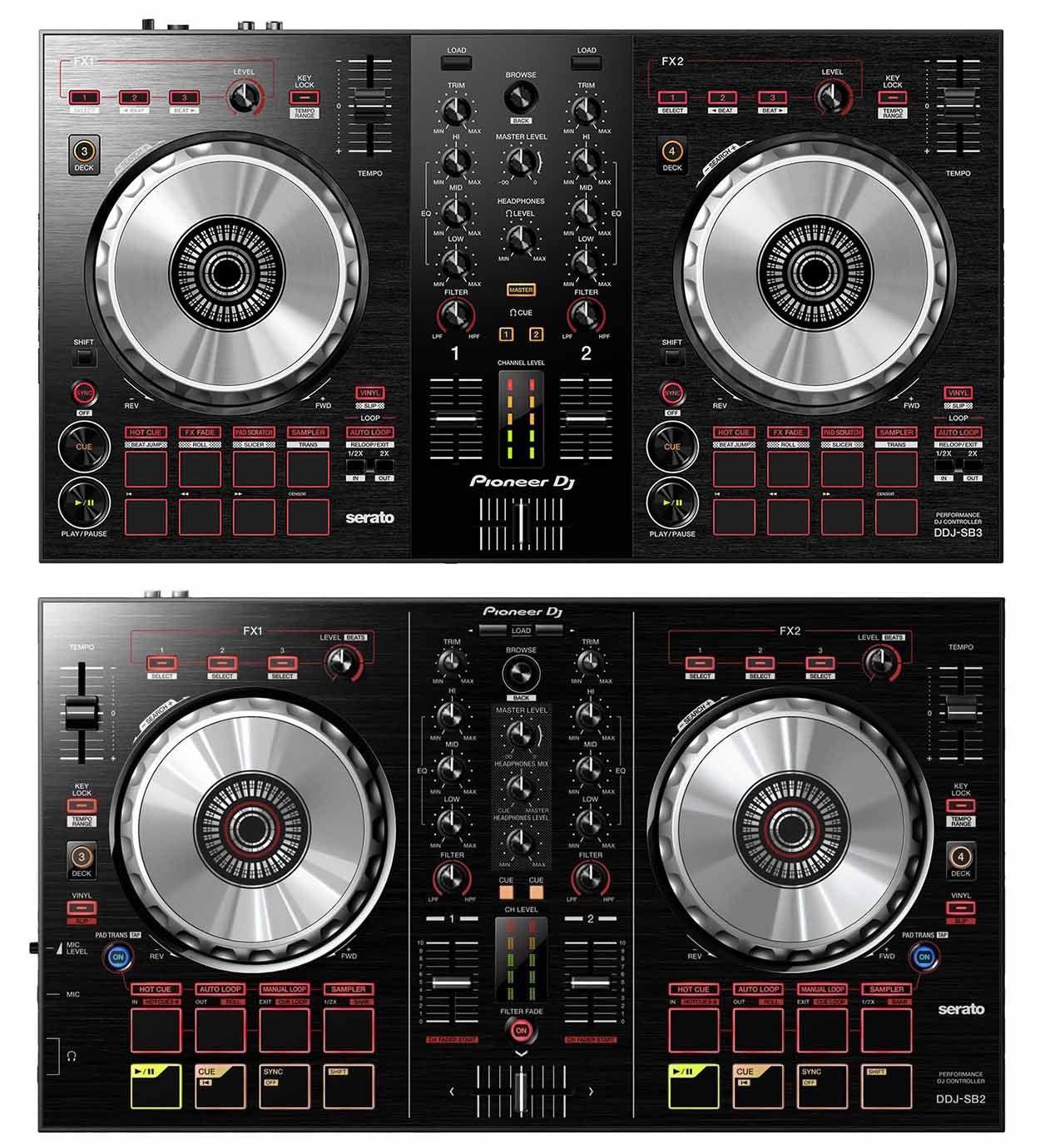 Pioneer DDJ-SB3 Controladora DJ DDJ SB3 Serato DJ Lite 2-Canais 4-Decks