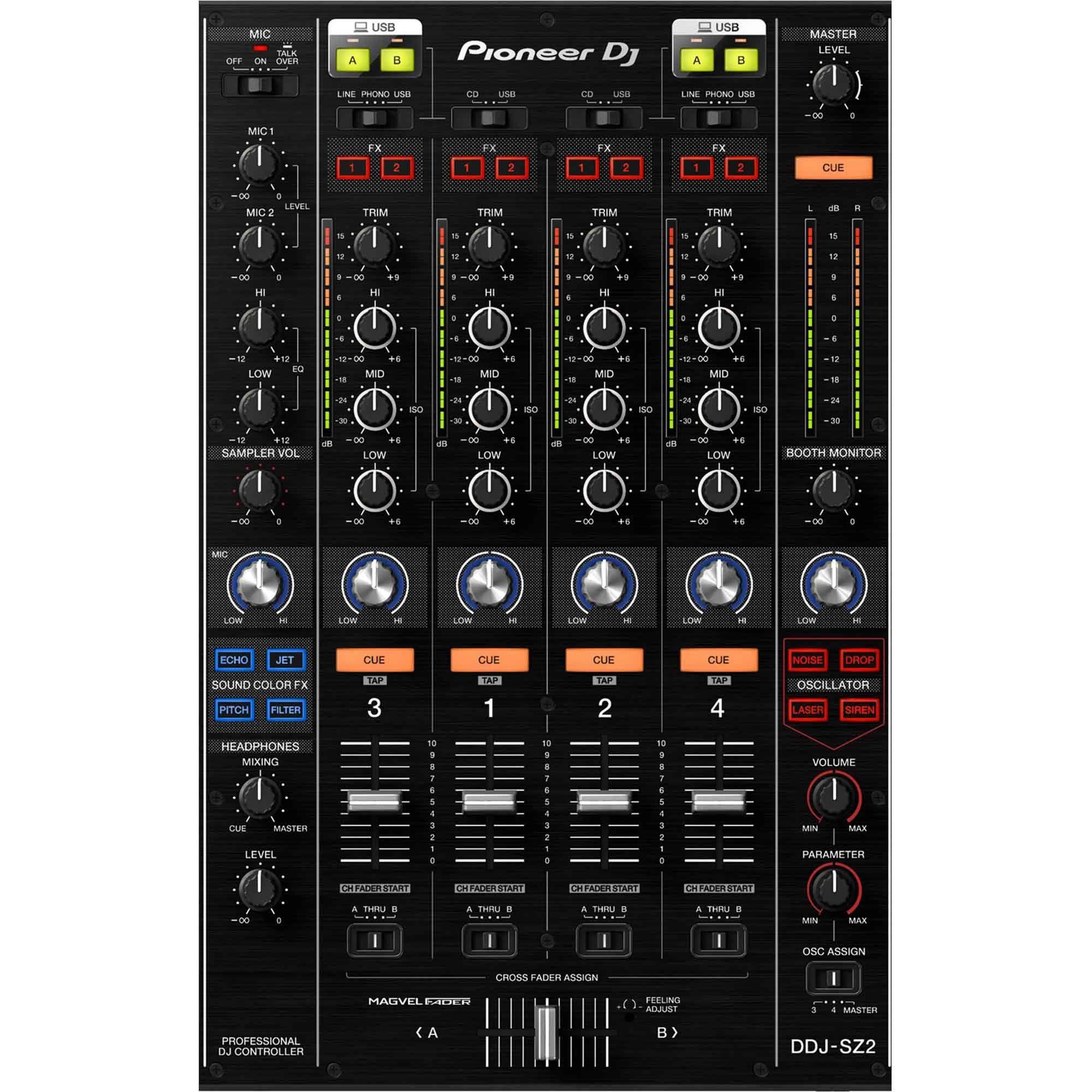 Pioneer DDJ-SZ2 Controladora Dj DDJ SZ2 4-Canais 2-Decks Serato Dj