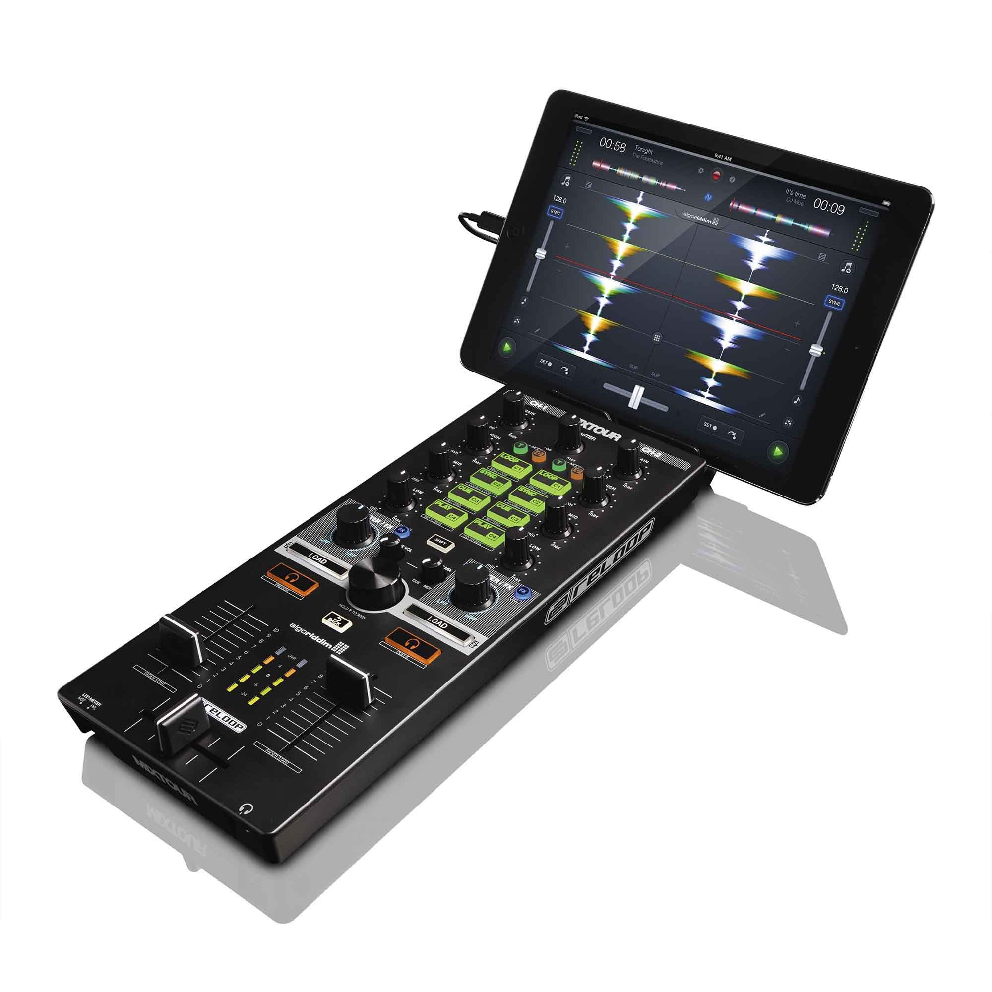Reloop Mixtour Controladora Dj Mix Tour 2-Decks 2-Canais Mixer Pc Mac Iphone Ipad IOS