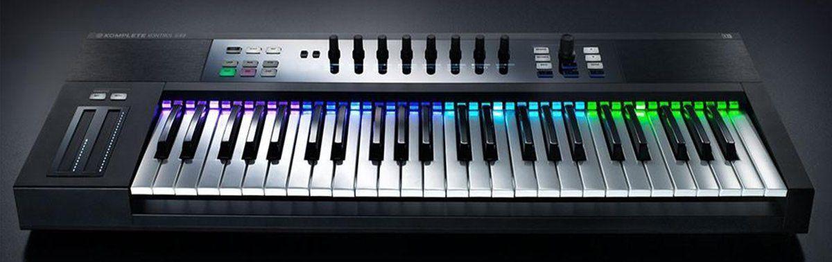 Native Instruments Komplete Kontrol S49 Controladora MIDI Para Produção Musical