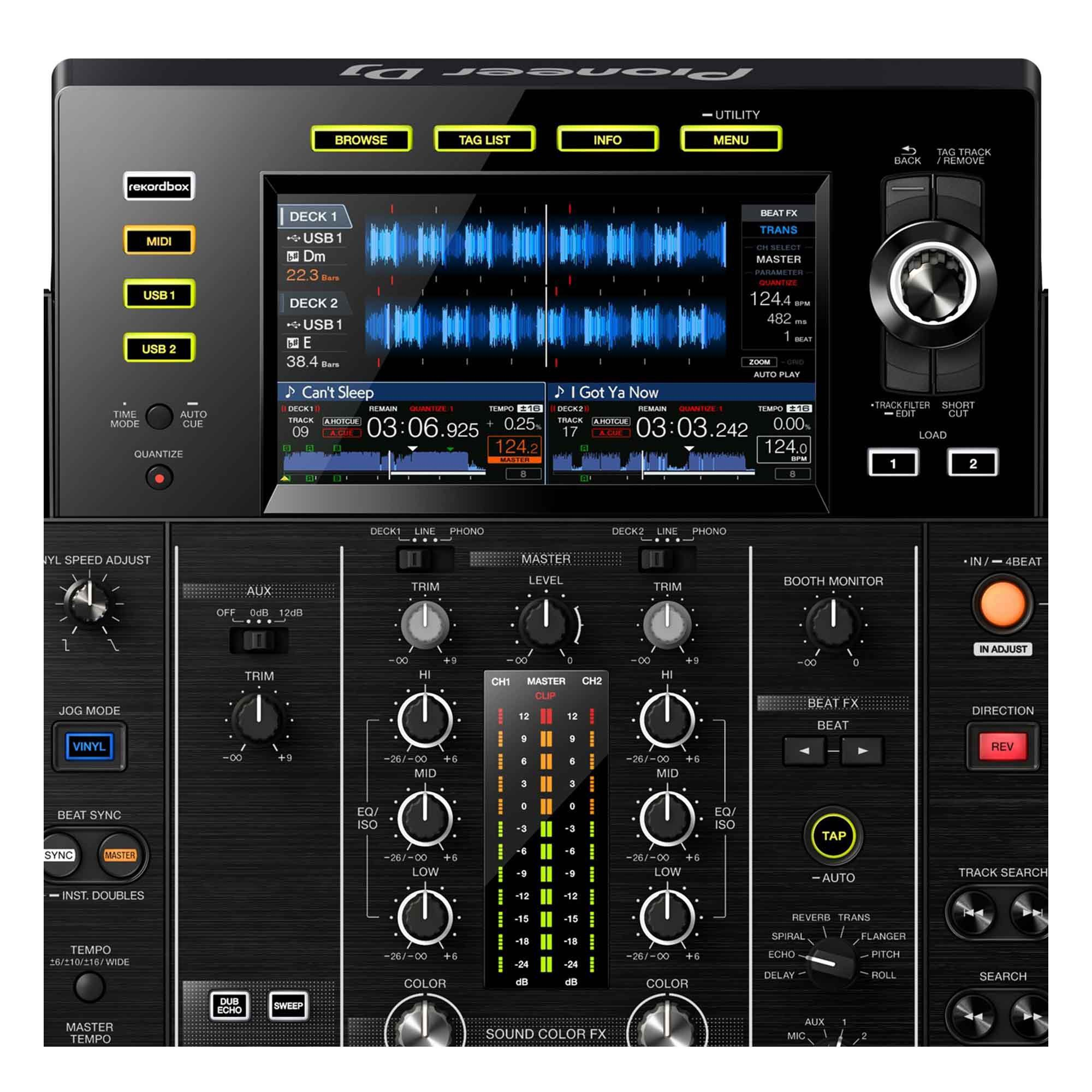 Pioneer XDJ RX2 Controladora Dj All-In-One Player e Mixer 2-Decks 2-Canais Display