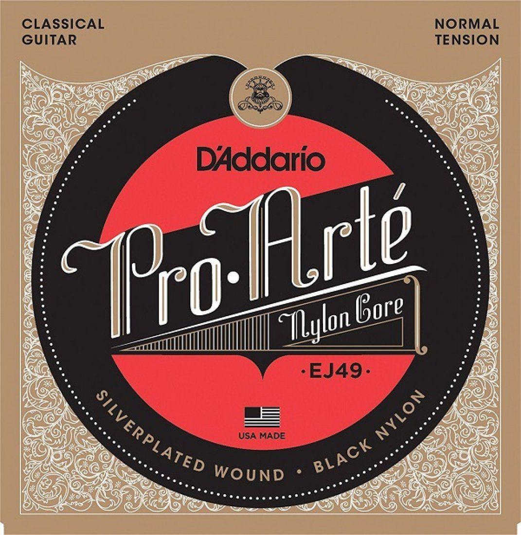 D'Addario EJ50 Encordoamento Hard Pro-Arte de Nylon para Violão