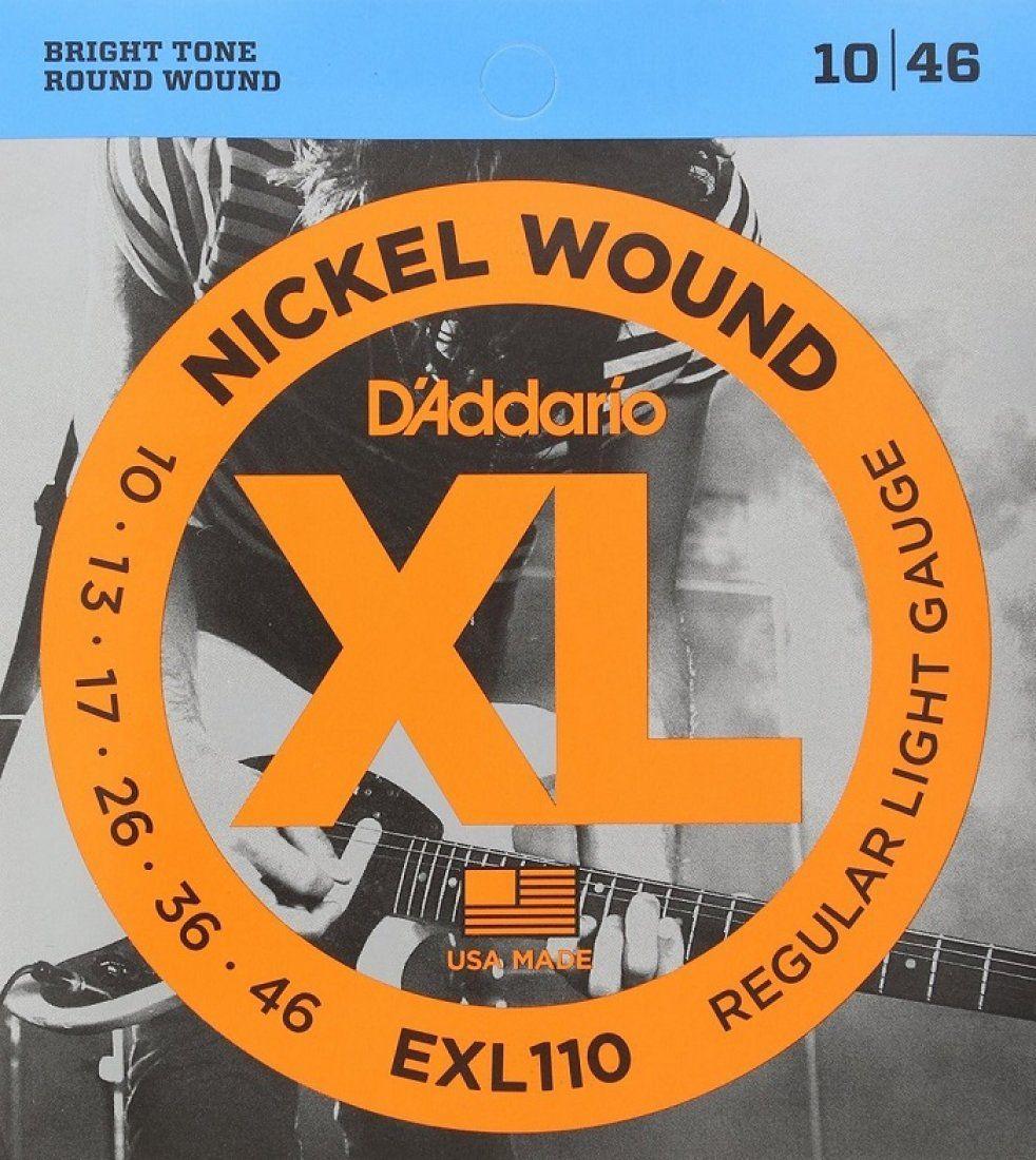 D'Addario EXL110 Encordoamento Nickel Wound para Guitarra Elétrica