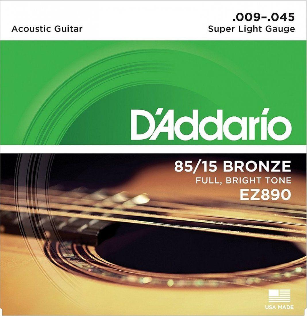 D'Addario EZ890 Encordoamento para Guitarra Acústica