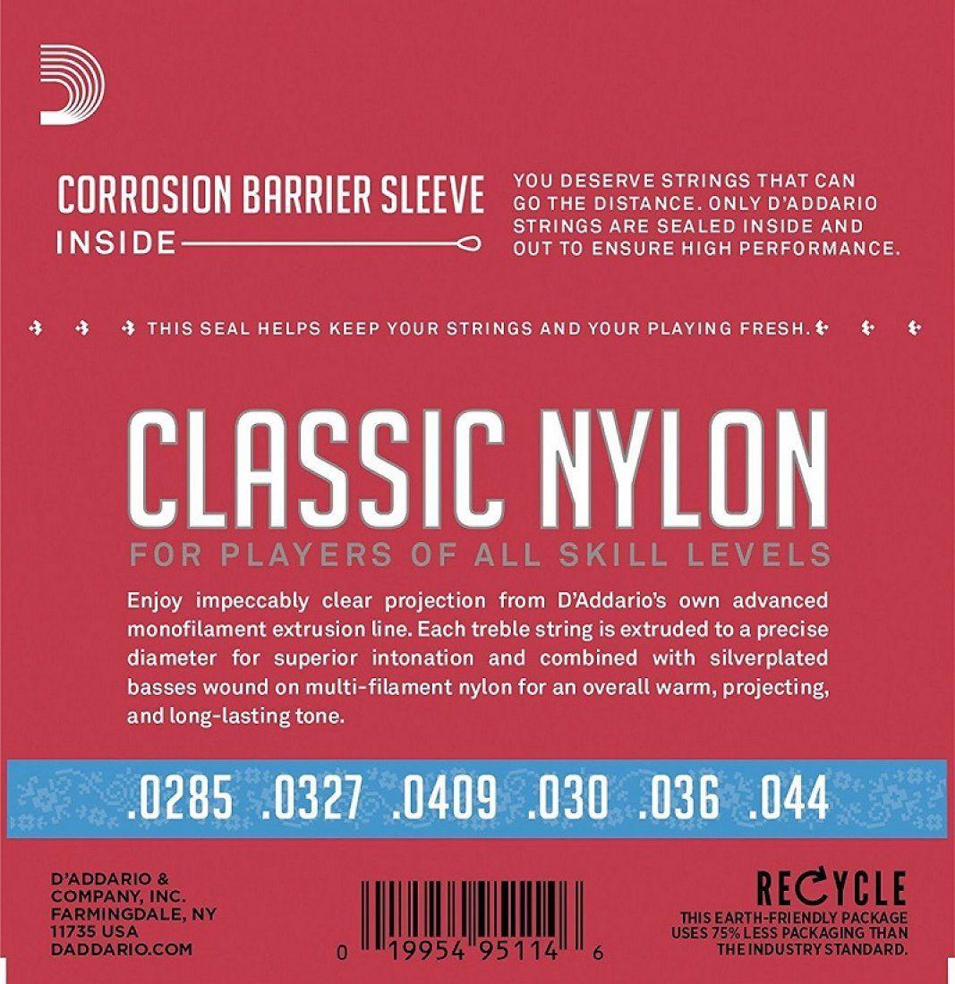 D'Addario EJ27N CLR Encordoamento de Nylon para Violão