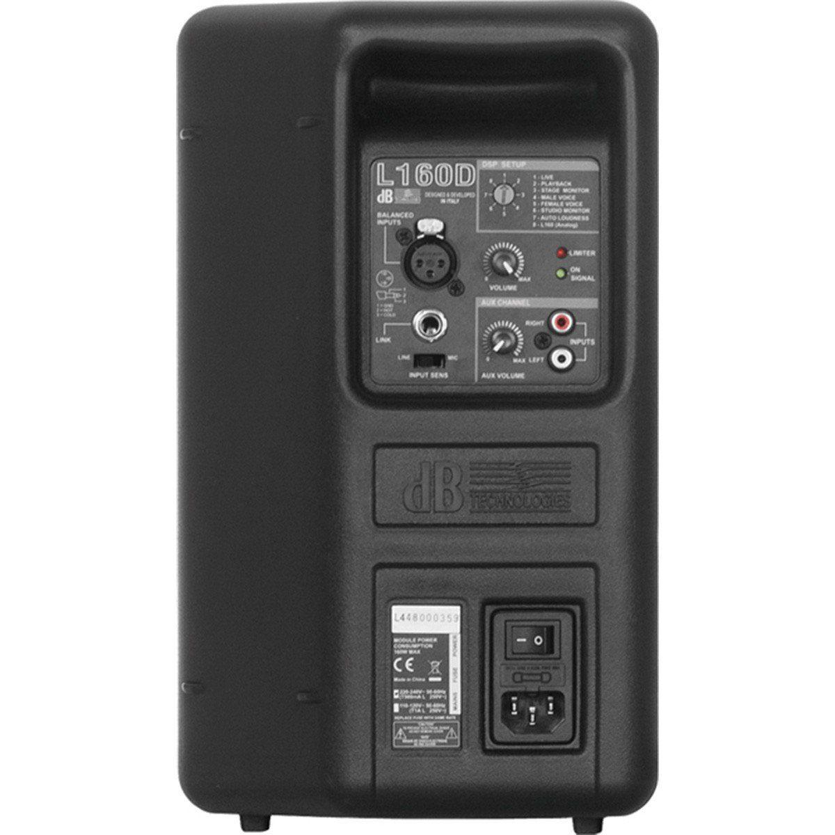 dB Technologies L160D Caixa de Som L-160-D Ativa 160W para Aplicação Multimídia