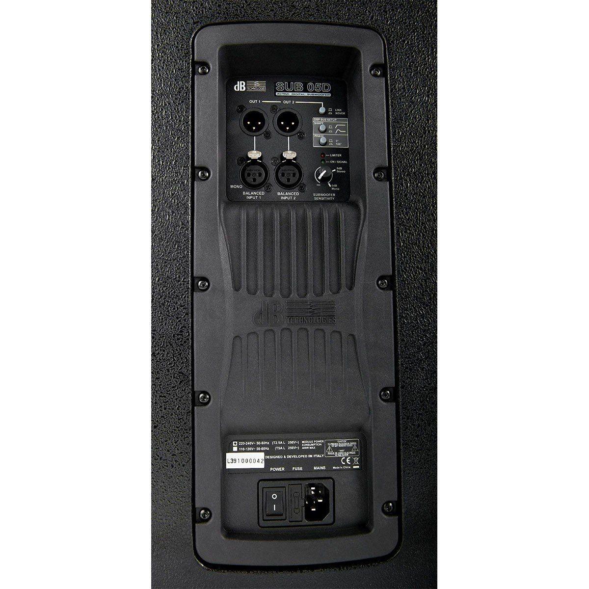 dB Technologies Sub 05D Caixa de Som SUB-05-D Subwoofer Ativo 800W Ideal para Ao Vivo