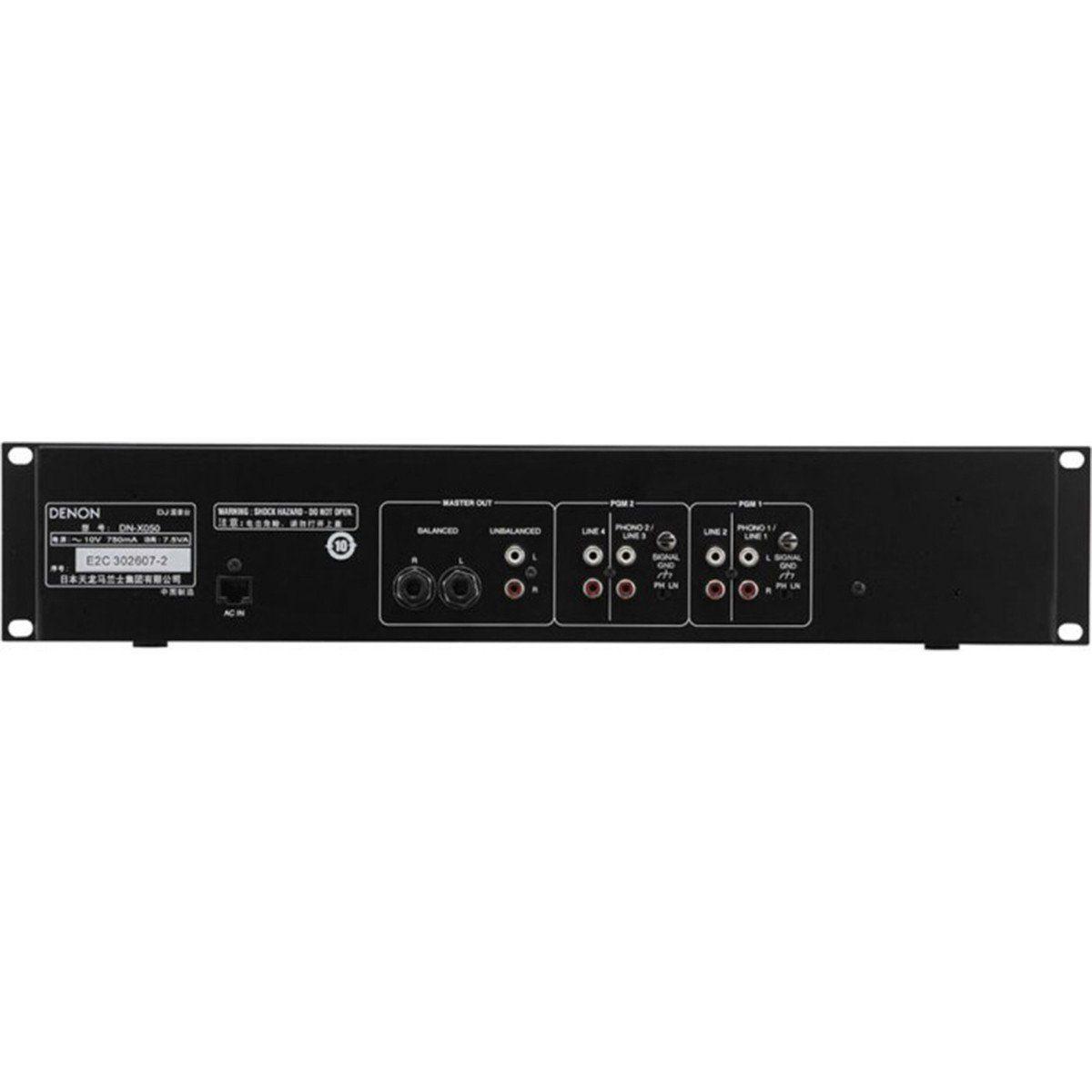 Denon DN-X50E2 Mixer Denon DN-X50E2 para Dj Profissional Compacto e Portátil