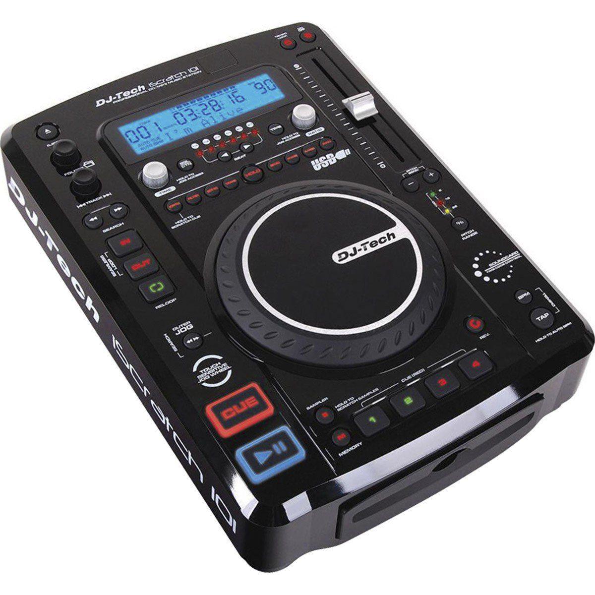 Dj-Tech iScratch 101 V2 Player USB MP3 Dj-Tech iScratch 101V2 para DJ Profissional