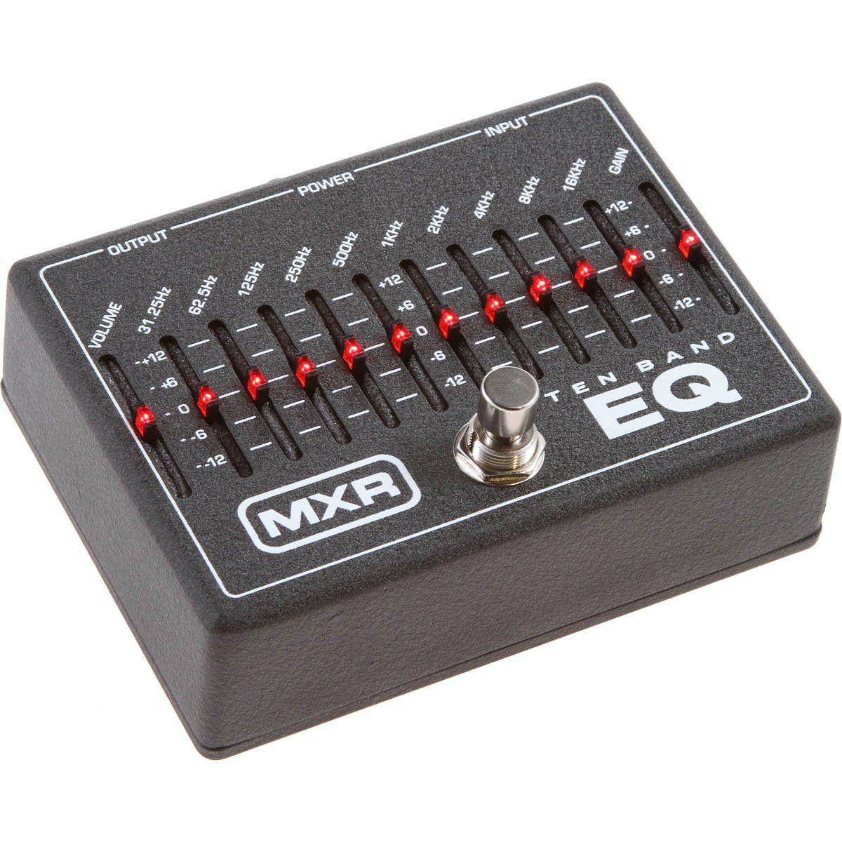 Mxr M-108 de Efeitos EQ 10 Bandas Pedal para Guitarra